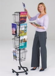 Wire Rotating Literature Dispensers