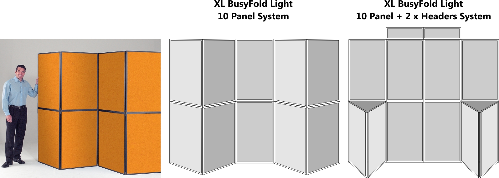 XL BusyFold Light 10 Panel Display System
