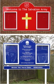 Double Superior External Church Notice Boards