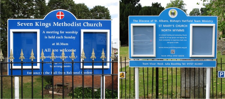 external church notice board