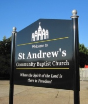 AS760 Post Mounted Aluminium Church Signs