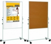 Mobile Duo Whiteboard / Cork Combination Board
