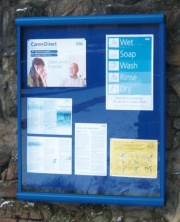 Scroll Colour Framed Wall Mounted Notice Board