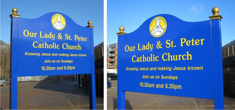 Premium Church Signs on Posts