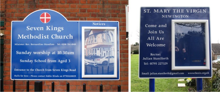 Single Superior External Church Notice Boards