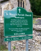 St Marys Parish Church Aluminium Sign on Posts